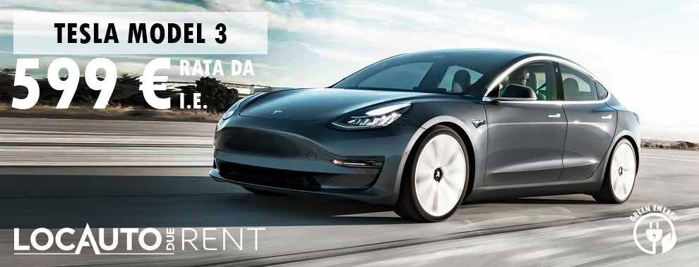 Promozione noleggio Tesla model3